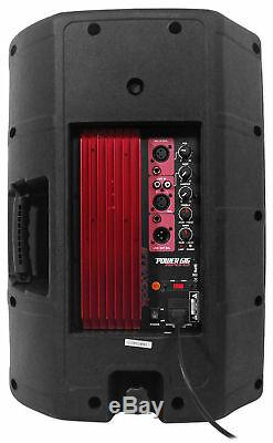 2 Rockville 12 800w Speakers+CD/MP3/USB Player withScratch FX Yoga/Spin/Crossfit