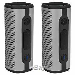 (2) Rockville ROCK LAUNCHER SL Portable Bluetooth Speakers for Spin/Yoga/Pilates