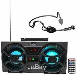AKG C544 L Fitness Headset Microphone + Boombox For Workout Yoga Spin Pilates