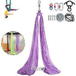 Aerial Silk 10Mx2.8M Yoga Swing Hammock Trapeze Antigravity fit Aerial Rig Stand