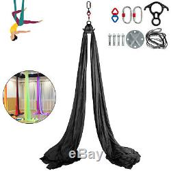 Aerial Silk 11Yards Yoga Swing Hammock Trapeze Antigravity Pilates 10Mx2.8M Home