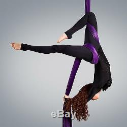 Aerial Silks Equipment for Acrobatic Flying Dance Includes all Hardware Fabri