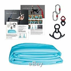 Aerial Silks Equipment for Acrobatic Flying Dance, Includes all Hardware, Fabric