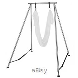 Aerial Stand Trapeze Frame Yoga Swing Bar Hammock Bracket withAerial Silk 20/39Ft