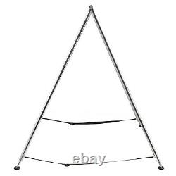 Aerial Trapeze Stand Portable Aerial Rig Frame Yoga Swing Bar with39Ft Aerial Silk