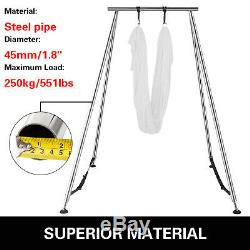 Aerial Trapeze Stand Portable Bracket Yoga Swing Frame with 20ft Aerial Hammock