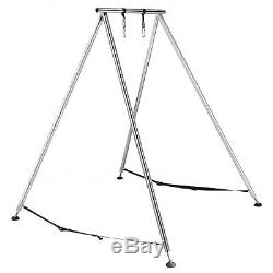 Aerial Trapeze Stand Yoga Swing Bar Hammock Stand Bracket with20Ft Aerial Silk Set