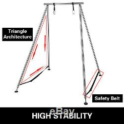 Aerial Trapeze Stand Yoga Swing Frame Portable Fitness Gym with20Ft Aerial Hommock