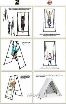 Aerial Yoga Body Trapeze Frame Set Foldable Portable Height Adjust Swing Stable