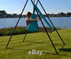 Aerial Yoga Swings Tri Stand Inversion Therapy Suspension Fitness Swing