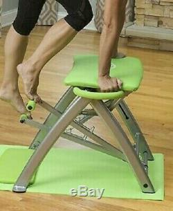 BRAND NEW! Life's A Beach Pilates Pro Chair with 4 DVD's Green #LAB01013
