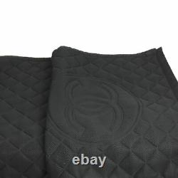 CHANEL NEW Rare Black Quilted Mesh Nylon Large CC Logo Work Out Rug Yoga Mat