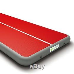 ECO Gymnastics Air Track Mat, Thickness 7.87inch x Width 6.56ft, Blue & Red