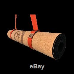 Entirely Natural Cork and Rubber (not TPE) Yoga Mat 5mm, Block & Strap, Hygienic