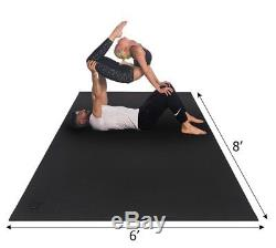 Extra Large Yoga Mat 6'x8'x7mm, Thick Exercise Floor Non Slip For Workout