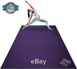 Extra Large Zen Yoga Mat Thick Comfortable Fitness Exercise Stretching Cardio