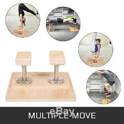 Fixed Handstand Canes Yoga Headstand Bench Wooden MDF 8 Rectangular Hand Blocks