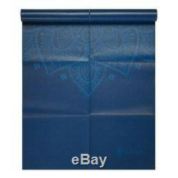 Gaiam Yoga Mat Foldable 2mm Travel Exercise & Fitness Mat Built-in Carrying