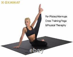 Gxmmat Large Yoga Mat 72x 48(6'x4') x 7mm for Pilates Stretching Home Gym Work