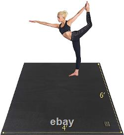 Gxmmat Large Yoga Mat 72x 486'x4' x 7mm for Pilates Stretching Home Gym Extra