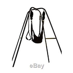 Heavy Duty Porch Indoor Swing Stand withToughage J410 Yoga Bungee Swing Compatible