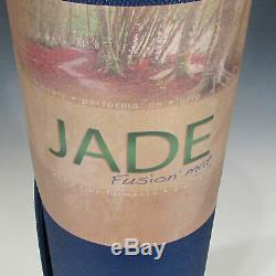 Jade Fusion Extra Thick Yoga Mat Long (5/16 x 24 x 74), Midnight Blue