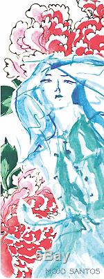 LUXE Eco Fitness / Yoga Mat'Her Mind was Beautiful Watercolour Original Artwork