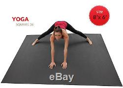 Large Yoga Mat 8' x 6' (4X Larger Than A Standard Sized Yoga Mat) By Square36