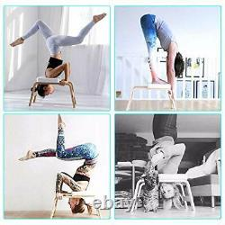 Life Yoga Headstand Bench- Stand Yoga Chair for Family, Gym Wood