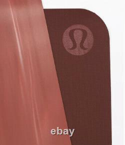 Lululemon The Reversible Mat 5mm Yoga Soft Cranberry/Feather Pink Marbled NWT