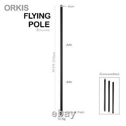 ORKIS Flying Silicone Pole 3m detachable Aerial Dance Home fitness Black