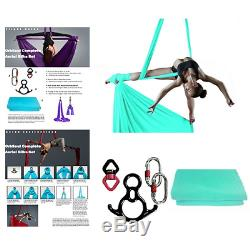 Orbsoul Complete Aerial Silks Deluxe Equipment Set Includes Premium Tricot and