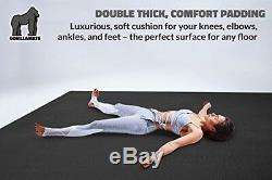 Premium Extra Large Yoga Mat 9' x 6' x 8mm Extra Thick Comfortable, Non-Toxi