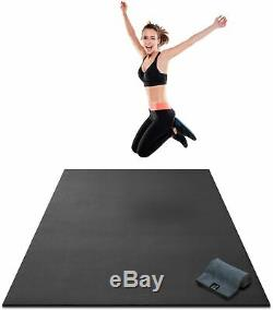Premium Large Exercise Mat 7' x 4' x 8mm Extra Thick Fitness Workout Gym Mats