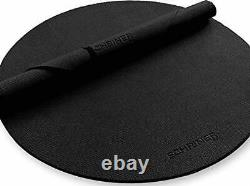 Pro Large Round Yoga Mat 6 x 8mm for Exercise Premium Extra Thick, Ultra