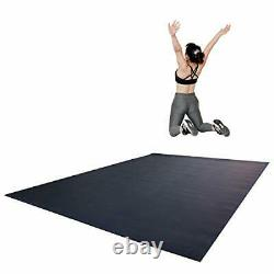 RevTime Extra Large Exercise Mat 8 x 6 feet (96 x 72 x 1/4+) 7 mm Thick