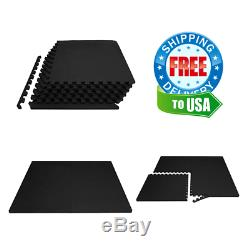 Rubber Puzzle Mat Gym Fitness Floor Exercise Interlocking Rug for Home And Gym