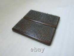 Sadhu Board with Nails for Yoga Practice and Meditation / In dark wood