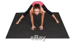 Square36 Large Yoga Mat 6ft x 4ft 72 Inch x 48 Inch & 6mm Thick, Non-Toxic. For