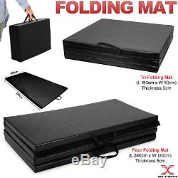 Tri and Four Folding Mat Gymnastic Exercise Fitness Yoga Training Gym Mats 5cm