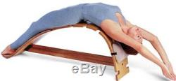 Whale Therapeutic Back Stretching Yoga Bench, Handcrafted by Bean Products, USA