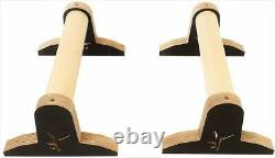 Wooden parallettes Handstand Calisthenics GYM Fitness Gymnastics Bar Training Pa