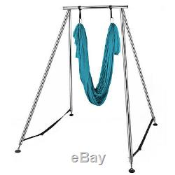 Yoga Aerial Trapeze Stand Yoga Swing Frame Hammock Bracket with 20ft Aerial Silk