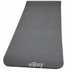 Yoga Fitness Exercise Mat Carry Straps Thick Foam Non Slip 15mm Gym Workout Mats