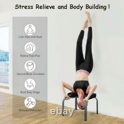 Yoga Headstand Chair Inversion Bench Headstand Home Gym Fitness Equipment Black