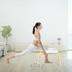 Yoga Headstand Wood Stool with PVC Pads