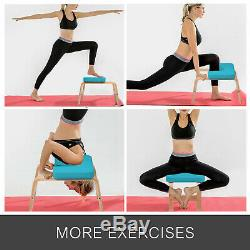 yoga inversion bench headstand chair beech suede training