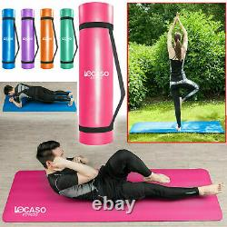 Yoga Mat for Pilates Gym Exercise Carry Strap 15mm Thick Large Comfortable UK