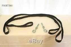 Yoga Meditation Trapeze Swing with Straps and Hooks Aerial Silk Set DVD Indoor