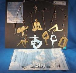 Yoga Mobile with Nine Yoga Postures Copper Brass Nickel